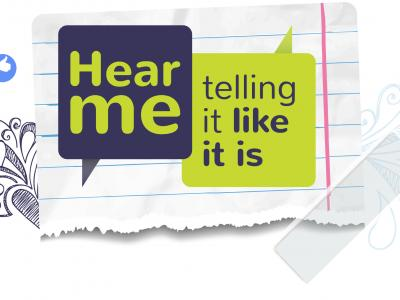 Hear me telling it like it is logo
